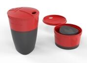 Pack-up-cup in Farbe rot-schwarz