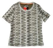 Canyon T-Shirt Allover Print weiss-tabak