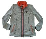 Canyon Strickfleecejacke graumel.red clay