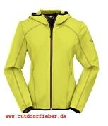 Stretchjacke von Maul in Farbe lime Hoody