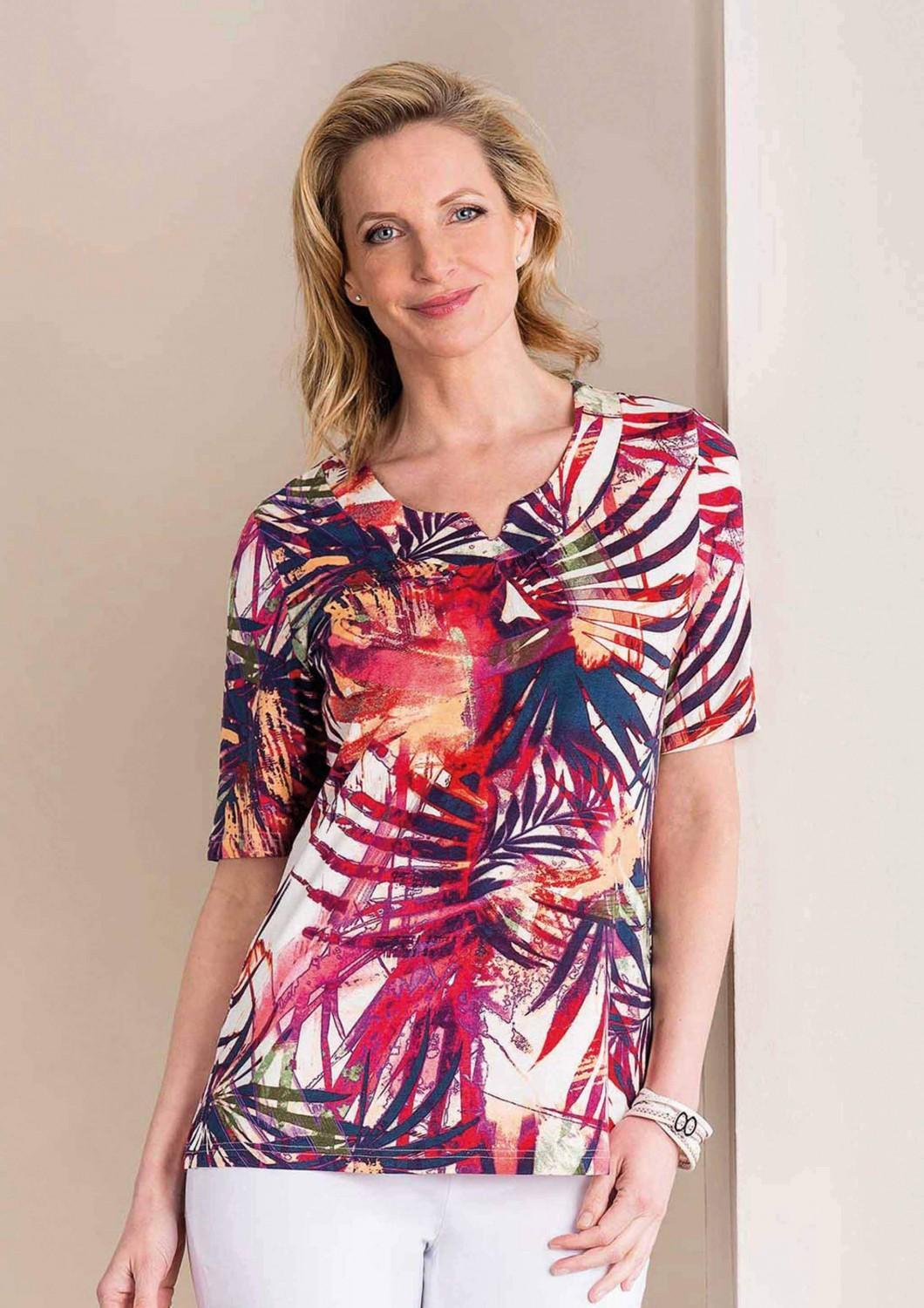 Adelina Shirt Tropical bunt
