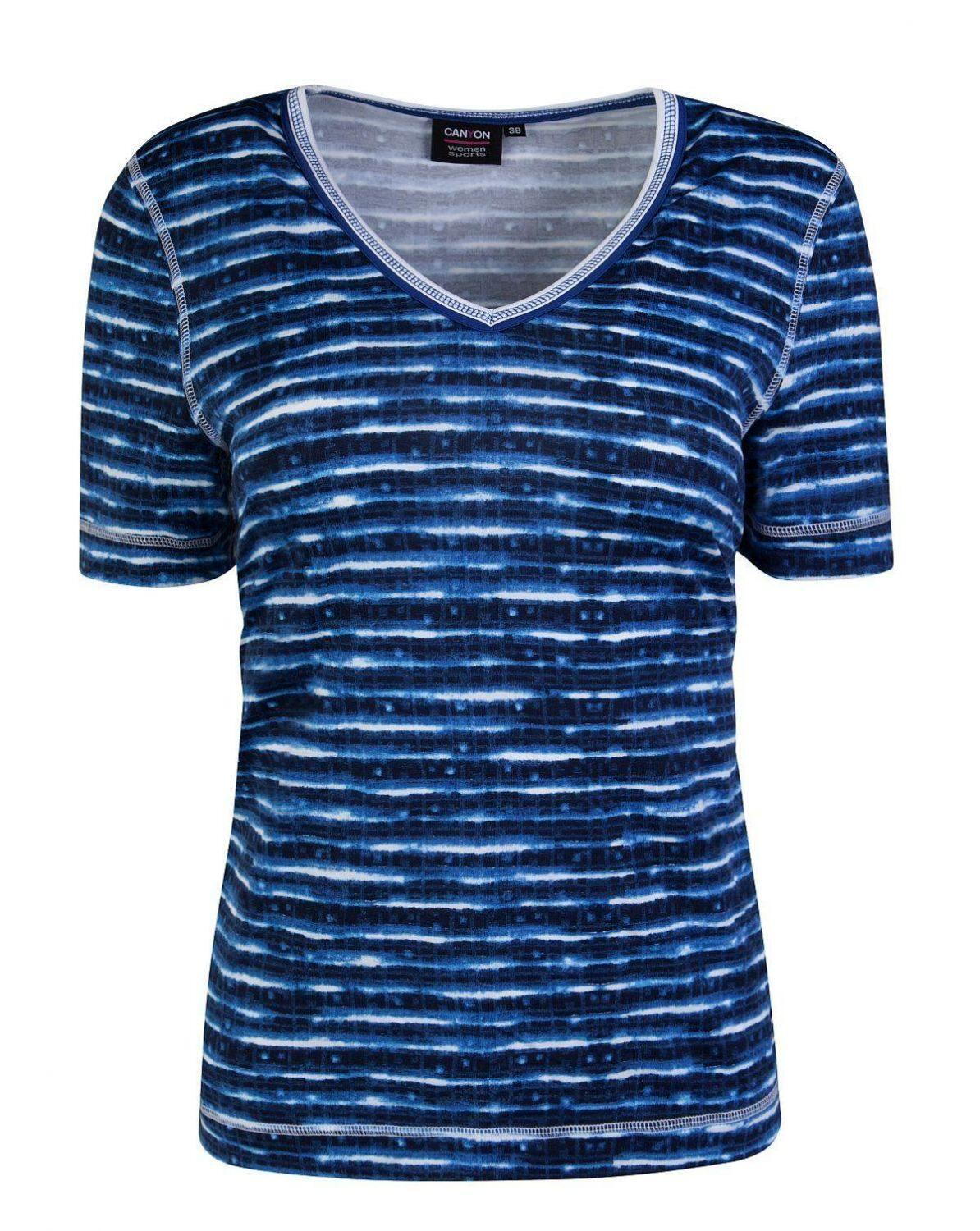 Canyon Women Sports T-Shirt Indigo Print