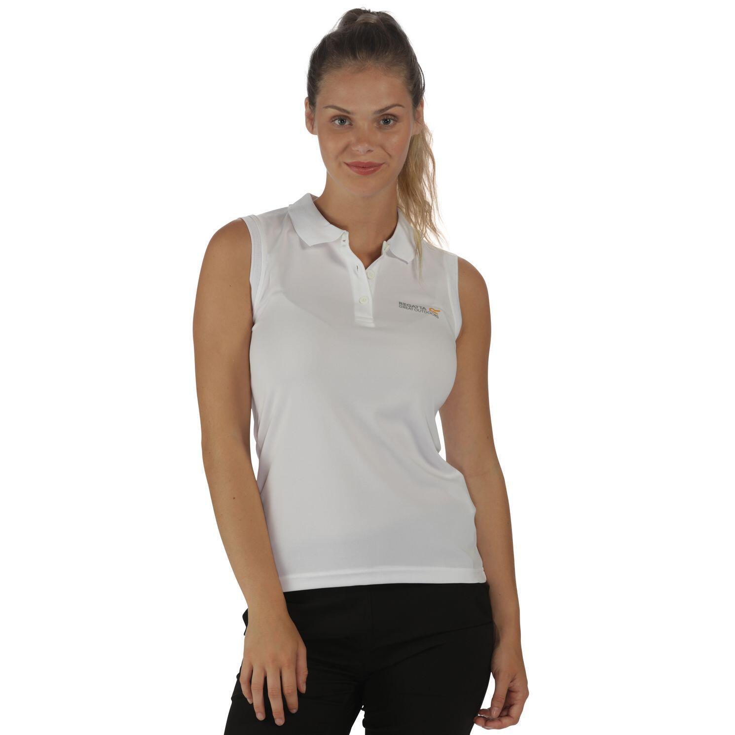 Regatta Tima Polo Shirt ärmellos weiss