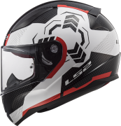 LS2 Helm Rapid Ghost FF353 white-black-red