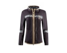 Canyon Fleecejacke Schwarz mit Animal