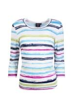 Canyon Women Sports T-Shirt Stripes 3/4 Arm