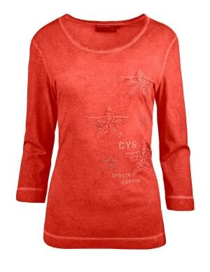 Canyon T-Shirt 3/4 Arm Sternenstick red clay