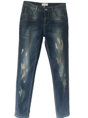 Bluebeery Jeans Used Look Gold
