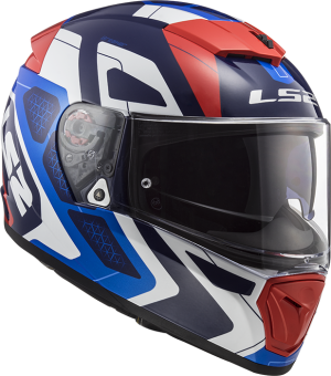 LS2 Helm Breaker Android Blue Red FF390