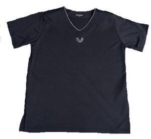 8df64da36f6757 Damen T-Shirt Anna Menotti- Marine Gr. 44-46