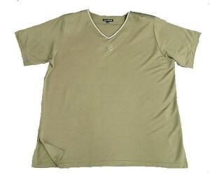 3e73fcad6dd1af Damen T-Shirt Anna Menotti-khakigrün Gr. 48-50