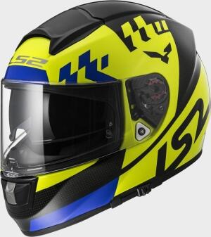LS2 Helm FF397 Vector Podium Hi-Vis Yellow Black