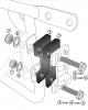 Hepco Becker Alu Adapter mit Schrägplatte